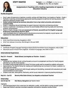 5 6 resume exles for teaching salescv info