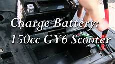 right way to charge battery 150cc gy6 scooter tao