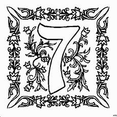 Malvorlagen Zahlen Gratis Zahl 7 Mit Ornamenten Ausmalbild Malvorlage Zahlen