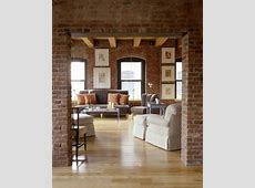 Le salon en brique rouge stylisé en 35 exemples