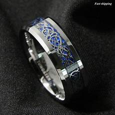 celtic mens wedding ring 8 6mm silvering celtic dragon tungsten carbide ring wedding band atop jewelry ebay