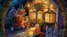 flower wallpaper house cottage with a dreamy garden hd wallpaper