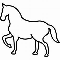 Malvorlage Pferd Umriss Lade Wandern Pferd Umriss Mit Einem Frontal Pfote Gehoben