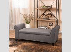 Alcott Hill Varian Upholstered Storage Bench & Reviews