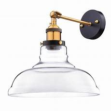 vintage industrial 11 quot flashlight glass light wall sconce edison l clear 637509421052 ebay