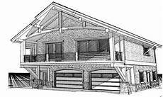 garage house plans with living quarters cabin with garage underneath cabin garage with living