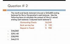 solved the month end bank statement showed a 42 600 endi chegg com