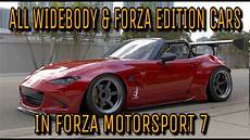 Forza Motorsport 7 Autos - forza motorsport 7 all widebody forza edition cars