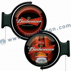 supplier for budweiser rotating pub signs and illuminated