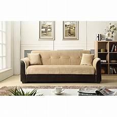 futon express nhi express melanie futon sofa bed with storage brown