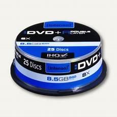 intenso dvd r dl rohlinge 8 5 gb 4311144