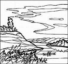 Ausmalbilder Drucken Landschaften Ruderer Auf Einem See Ausmalbild Malvorlage Landschaften