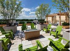 Apartment Community Ideas by Rooftop Terrace With Pit Trellis Areas Lounge