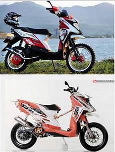 Matic Modif Trail by Modifikasi Motor Yamaha Matic Trail X Ride Terbaru