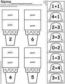 cut and paste subtraction worksheets for kindergarten 10497 math scoops cut and paste addition up to 20 early childhood math prek 2