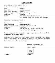 contoh surat kuasa pengambilan gaji cara buat surat