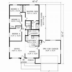 1400 square feet house plans mediterranean style house plan 4 beds 2 baths 1400 sq ft