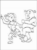 Penciling To Color Fiona And Shrek Dance  Coloring Pages