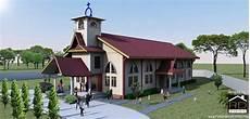 Desain Gereja Hkbp Dengan Nuansa Melayu Dengan Gambar