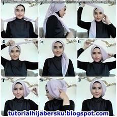 Tutorial Segi Empat Wardah Jilbab Gucci