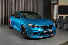 bmw m2 competition with m performance accessories akrapovic exhaust system and parts by ac