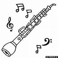 Kostenlose Malvorlagen Oboe Musikinstrument Blockfl 246 Te Tekening Muziek