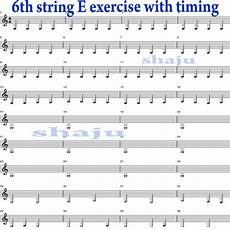 Shaju S Guitar Lessons 6th String Exercise