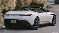 2018 aston martin db11 volante v8 color lunar white rear three quarter hd wallpaper 95