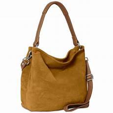caspar damen tasche leder wildleder handtasche