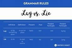 lay lie laid grammar rules