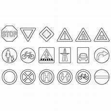 malvorlagen verkehrsschilder quadratisch verkehrszeichen zum ausmalen verkehrszeichen