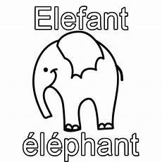 ausmalbild franz 246 sisch lernen elefant 233 l 233 phant