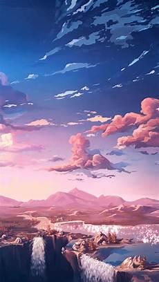 Iphone X Wallpaper Anime Landscape