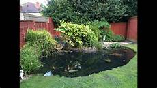 Draining Cleaning Garden Pond Time Lapse
