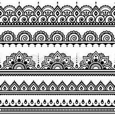 mehndi indische henna nahtlose muster design