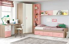 chambre fille chambre ado fille douce et avec lit 3 coffres