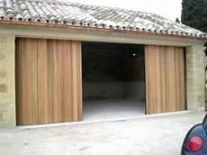 Garage Bois Porte De Garage Lat 233 Rale Coulissante Bois Automatique