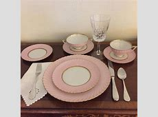 Royal Tettau Bavaria Pink & Gold China Dinnerware   Set of