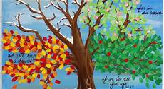 Jahreszeiten Malvorlagen Quotes Vier Jahreszeiten Baum Acryl Malerei Schrift