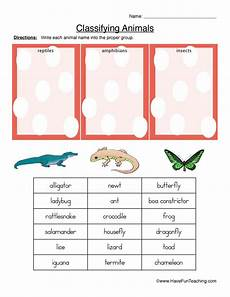 animals classification worksheets 13819 classifying animals worksheet reptiles hibians or insects