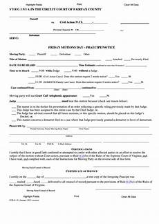 fillable form ccr e 10 friday motions day praecipe notice 2013 printable pdf download