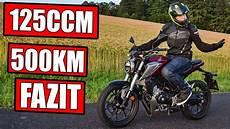 honda cb125r 500km motorrad test