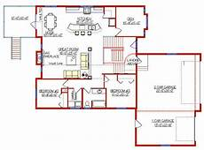 bi level house plans with garage modified bi level with 3 car garage 2004135 by e designs