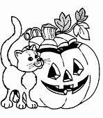 Cat Halloween Coloring Pages Free Printable