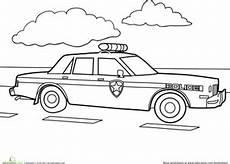 Ausmalbilder Polizeiauto Car Coloring Page Education