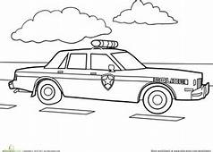 Police Car  Coloring Page Educationcom