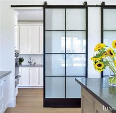 Kitchen Doors Interior by Gorgeous Barn Door With Modern Hardware Is Located In A