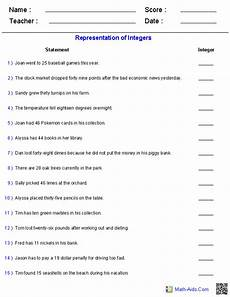 integer word problems worksheet 6th grade grade 6 math worksheets and problems integers 2019