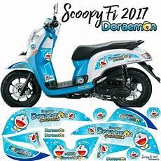 Scoopy Modif Stiker by Jual Stiker Scoopy Fi Esp 2017 Doraemon Di Lapak