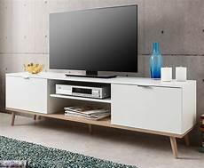 tv lowboard weiss tv lowboard g 246 teborg matt wei 223 und eiche massiv 160 cm